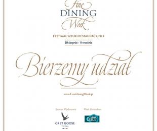 Fine Dining Week - Bierzemy udział